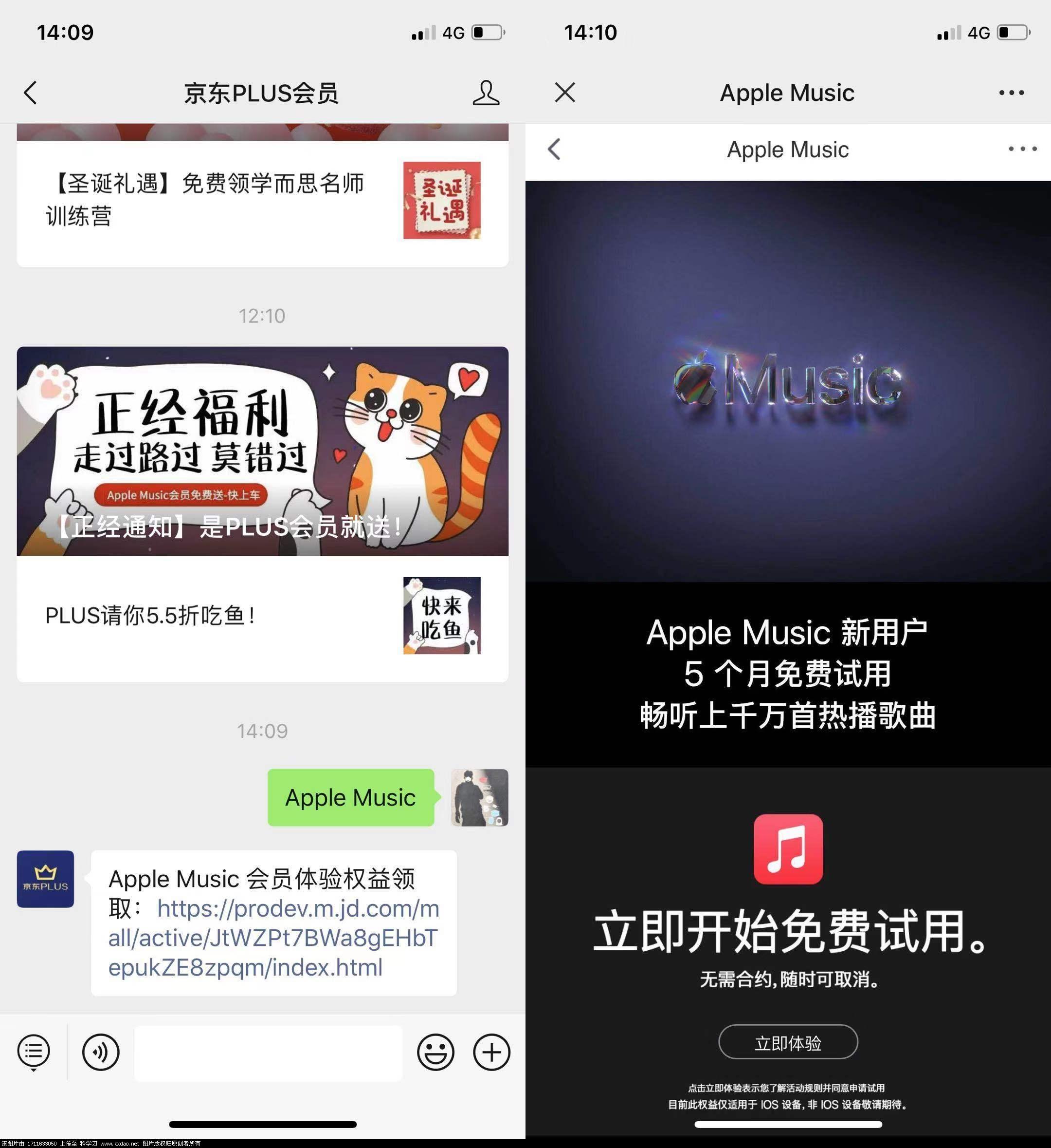 京东plus会员免费领取Apple Music音乐会员-亿动工作室's Blog